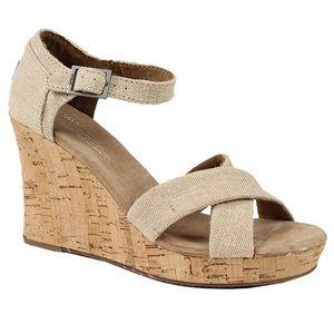Toms Sienna Cork Wedge Sandal